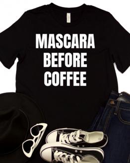 Mascara Before Coffee Graphic Tee - Black 1 of 2