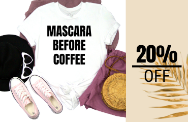 Mascara Before Coffee Graphic Tee - White 1 of 7